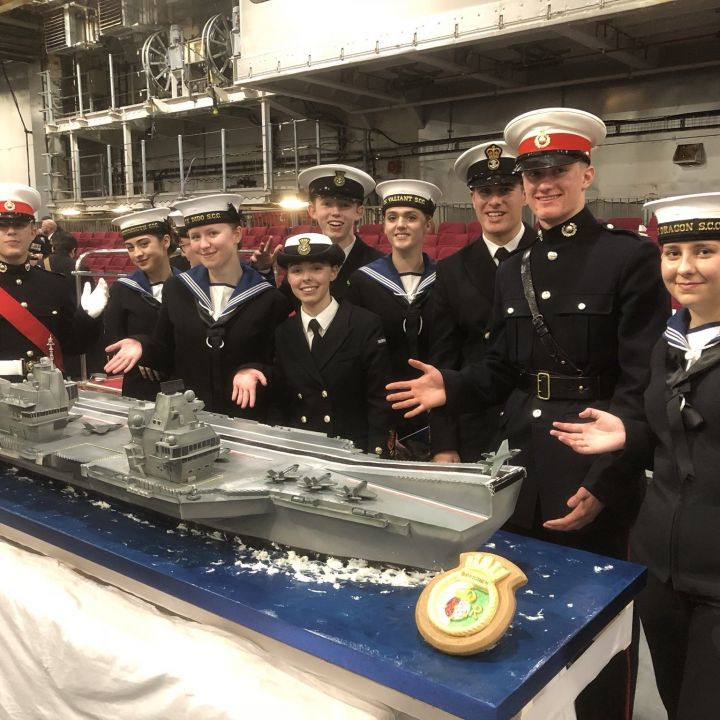 CADETS ATTEND COMMISSIONING OF HMS QUEEN ELIZABETH